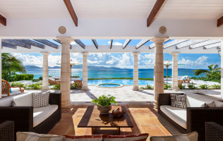 Anguilla Villa Alegria Photo Portico View