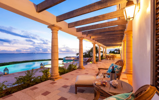 Anguilla Villa Alegria Sunset Porch