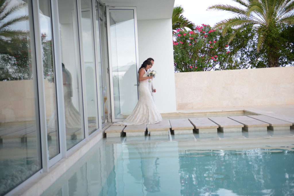 Anguilla Weddings Beaches Edge Bride and Dad