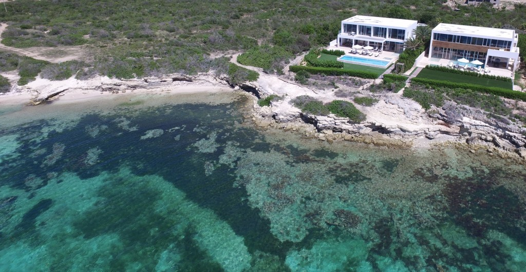 Beaches Edge Anguilla Villas Overhead View