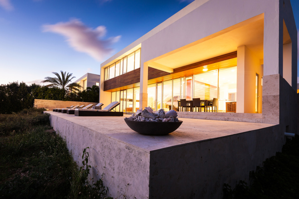 Beaches Edge Anguilla Villas Night