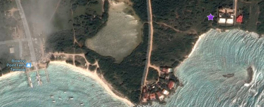 Map of Anguilla Showing Beaches Edge Aerial Google