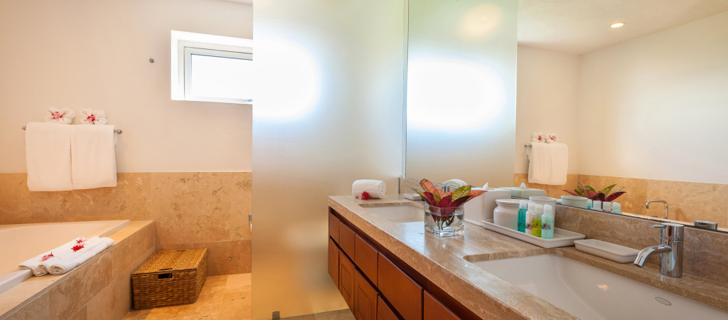 5 ensuite spa-like bathrooms