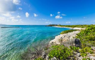 Map of Anguilla Beaches Edge Beach