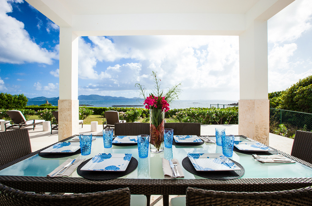 Beaches Edge Anguilla Villas Alfresco Dining