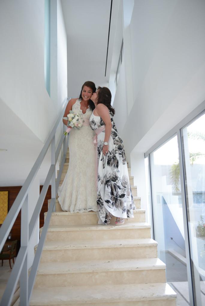 Anguilla Weddings Beaches Edge Savannah Mom Kiss Stairs_resized