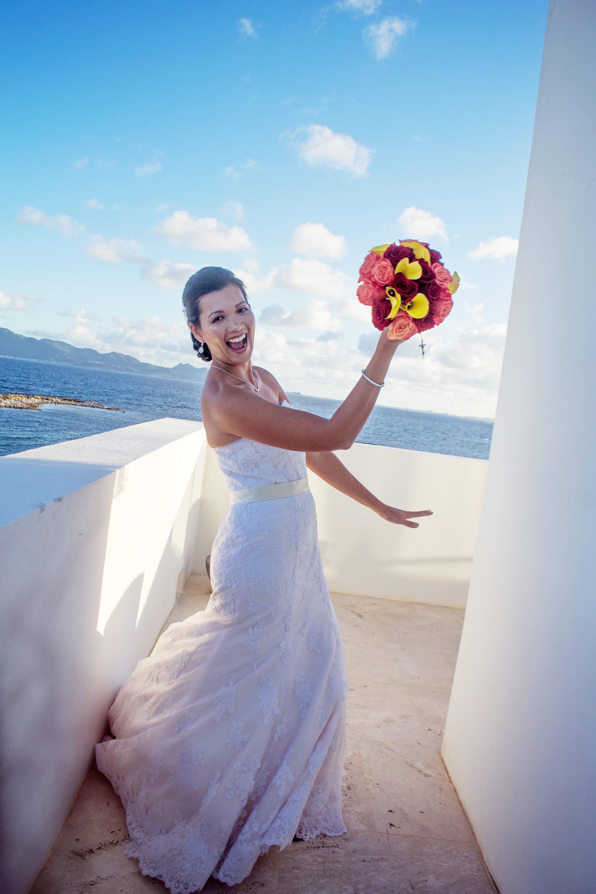 Anguilla Wedding Beaches Edge Bride Bouquet