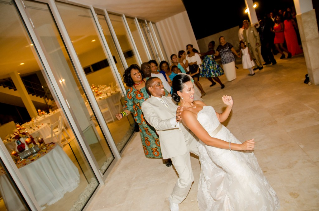 Anguilla Wedding Beaches Edge Conga Line