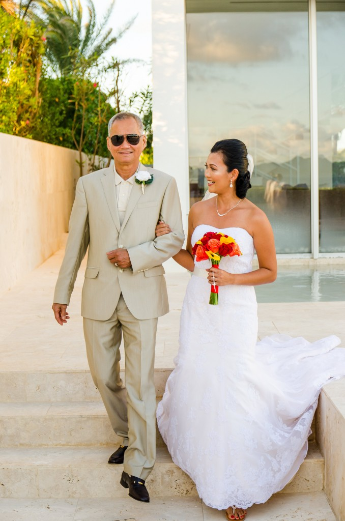 Anguilla Wedding Beaches Edge Dad Bride