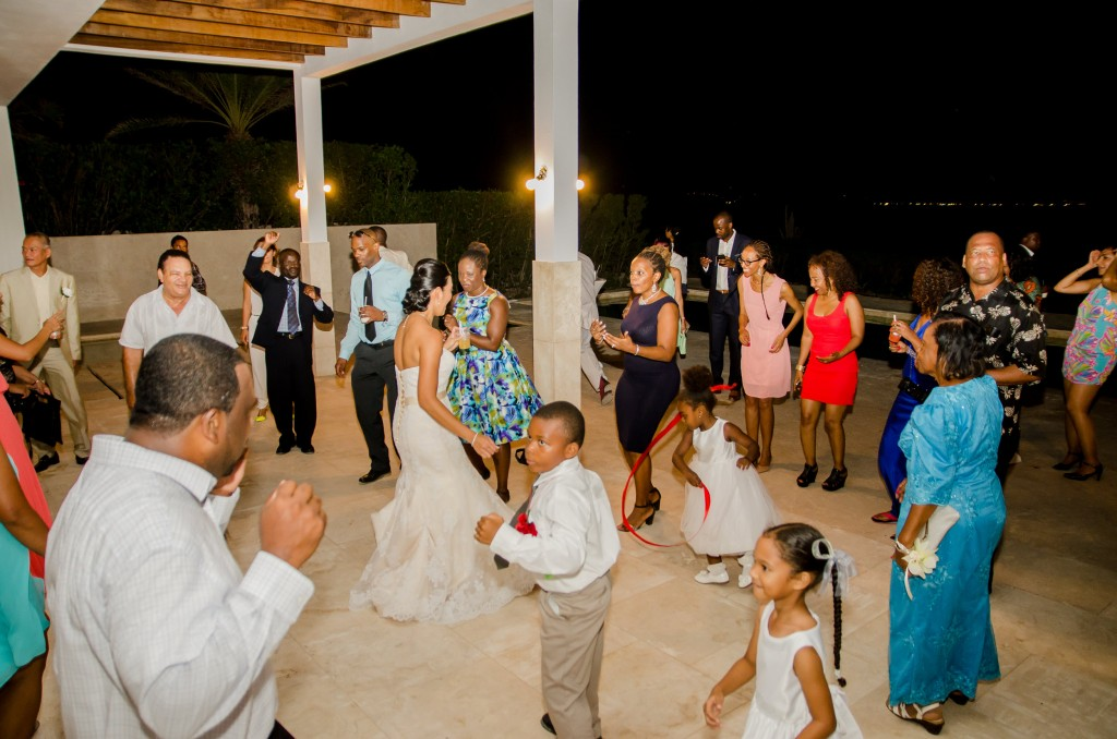 Anguilla Wedding Beaches Edge Dancing