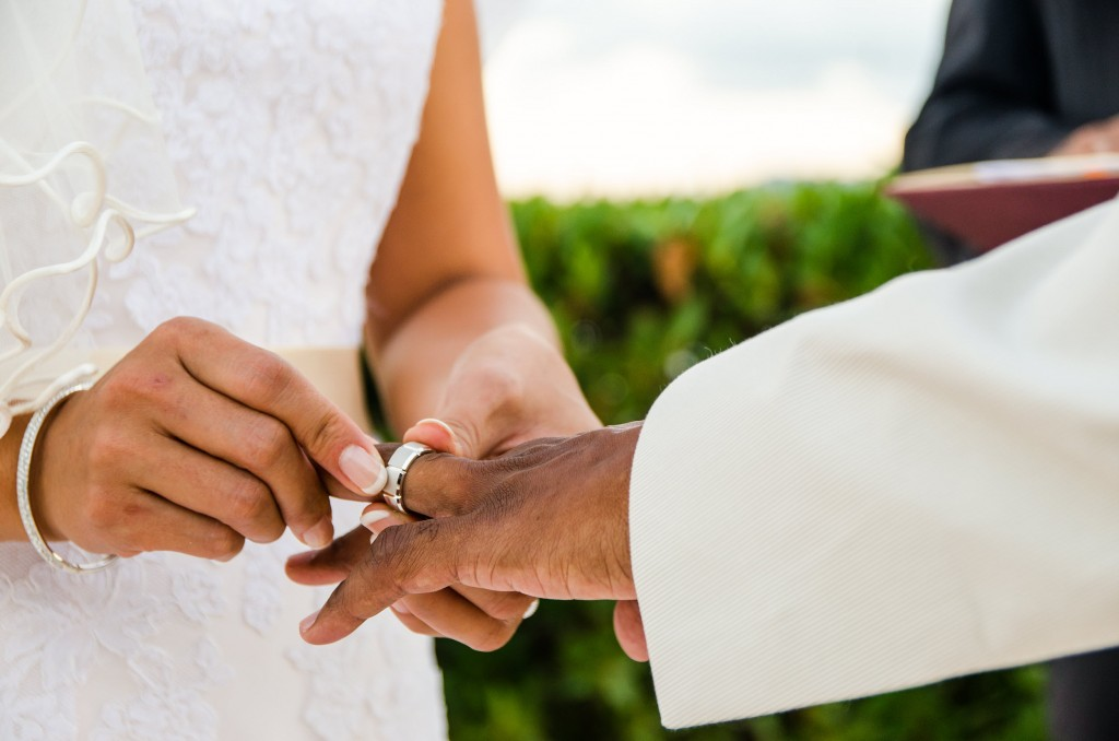 Exchanging Rings at Beaches Edge Villas