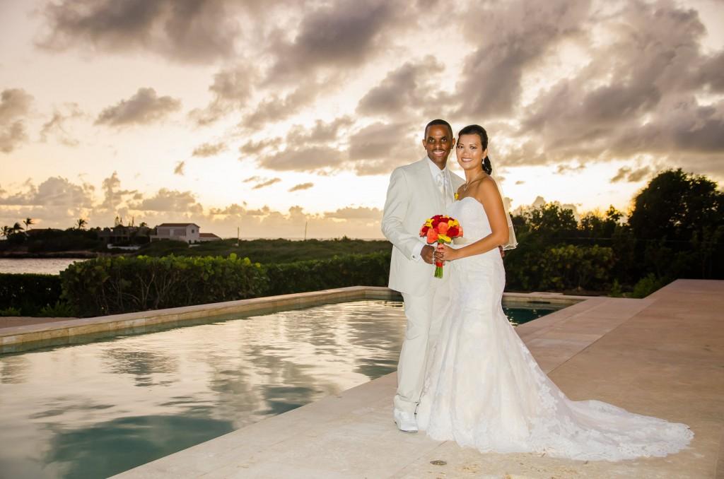 Anguilla Wedding Beaches Edge Sunset