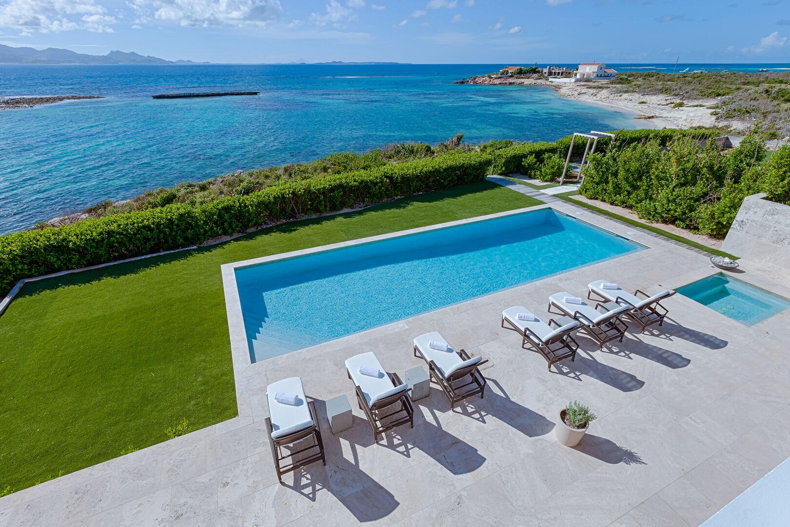 Anguilla Villa Beaches Edge New Pool on Ocean