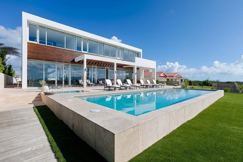 Beaches Edge Anguilla Villa Owner Photo Pool Angle