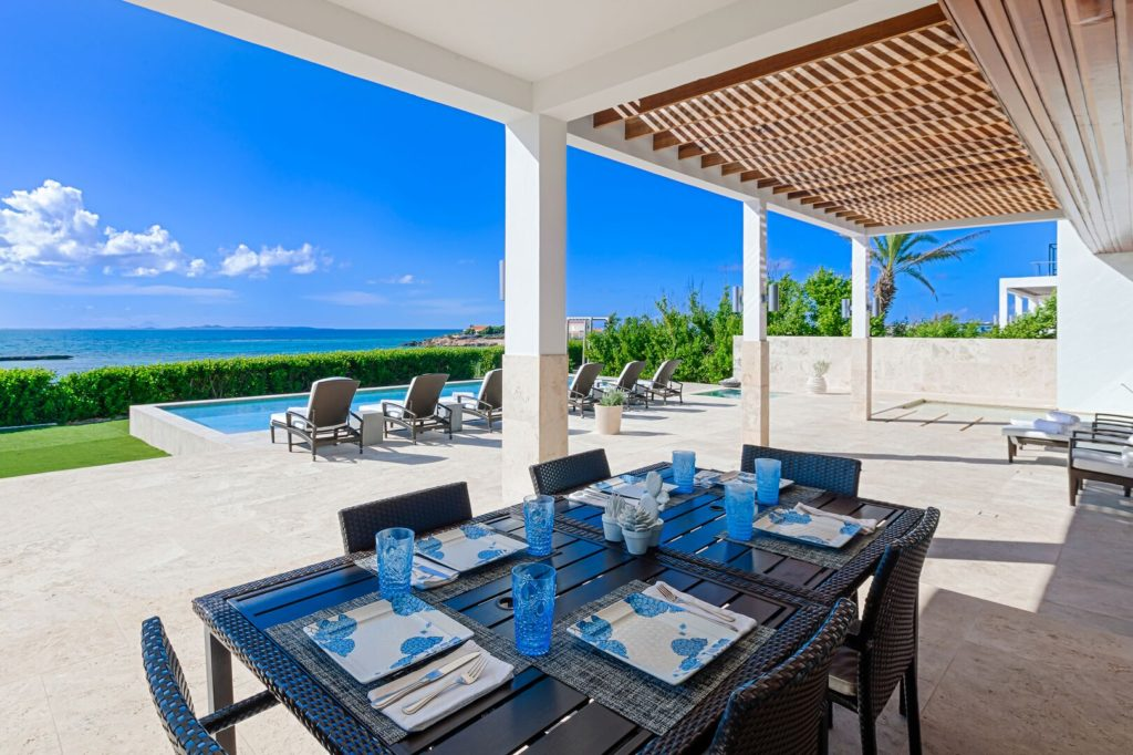 Beaches Edge Villa Anguilla Owner Photo Dining